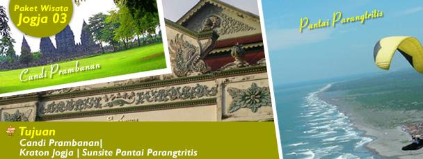 Candi Prambanan| Kraton Jogja | Sunsite Pantai Parangtritis