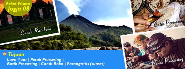 Lava Tour | Perak Prossesing | Batik Prossesing | Candi Boko | Parangtritis (sunset)