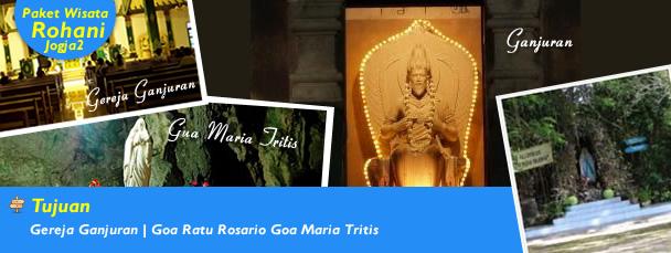 Gereja Ganjuran | Goa Ratu Rosario | Goa Maria Tritis