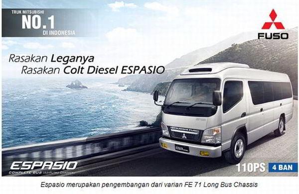 Rental Mobil Espasio Mitsubishi Kapasitas 20 - 22 Kursi Penumpang